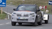 2020 Skoda Kodiaq facelift spy photos