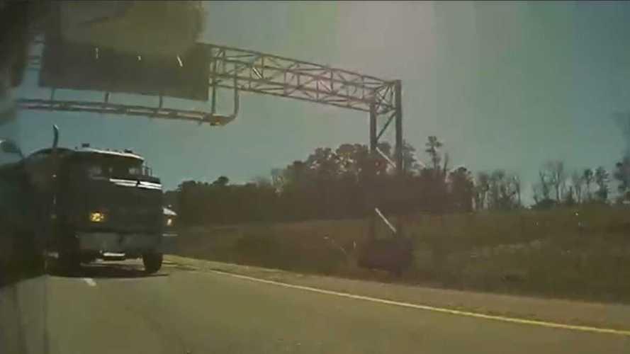 Tesla Model 3 Brake Checks Semi Truck on Autopilot: Video