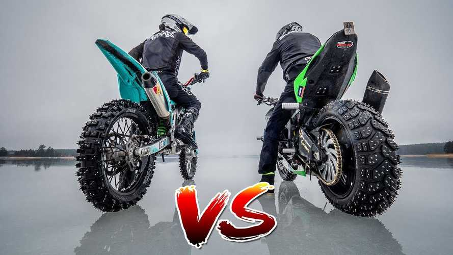Ice Riding: Sport Bike Vs Dirt Bike