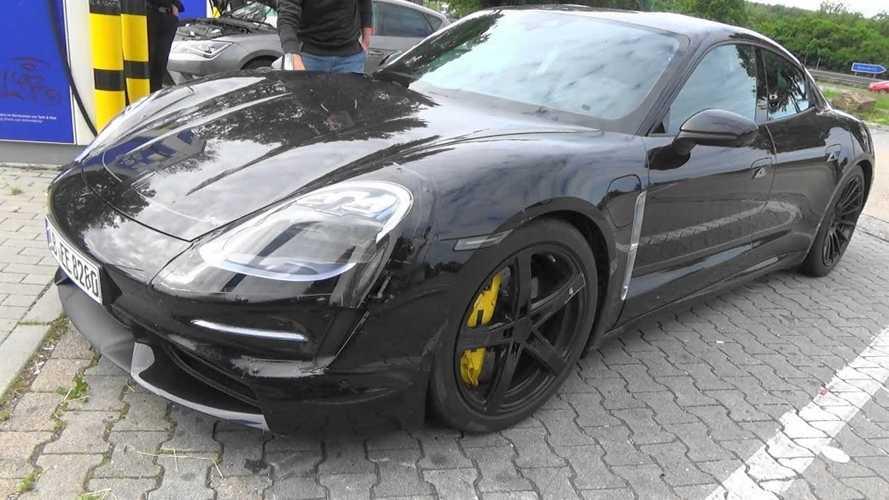 Porsche Taycan Spied At Charging Station: Videos