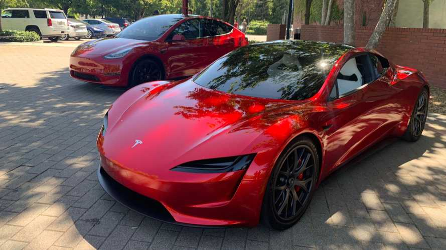 Tesla Annual Shareholders Meeting - Tesla Roadster 2 and Tesla Model Y (Source: Sofiaan Fraval)