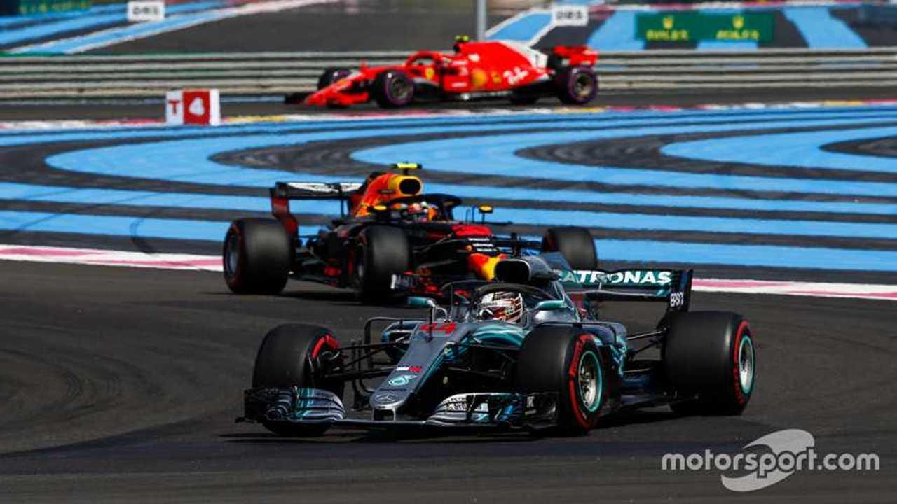 Lewis Hamilton leading the French GP 2018