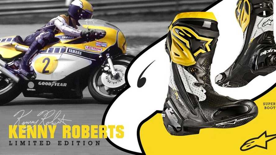 Limited Edition Alpinestars Race Boots Honor Kenny Roberts