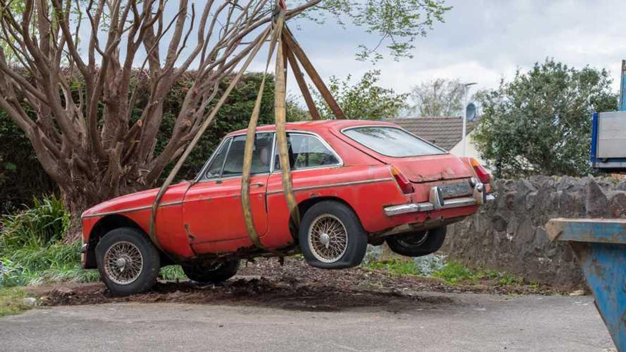 Taking away a classic old car Bristol UK