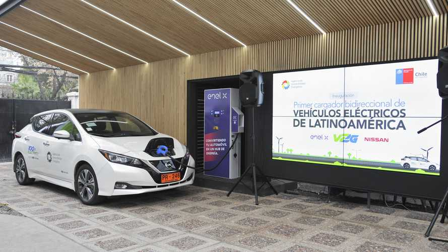 Nissan Demonstrates LEAF Vehicle-to-Grid (V2G) In Chile
