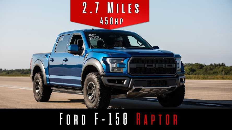 Watch How Fast A Ford F-150 Raptor Can Go In 2.7 Miles