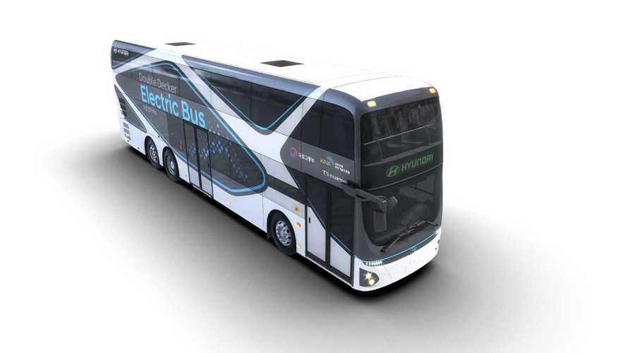 Hyundai stellt elektrisch angetriebenen Doppeldeckerbus vor