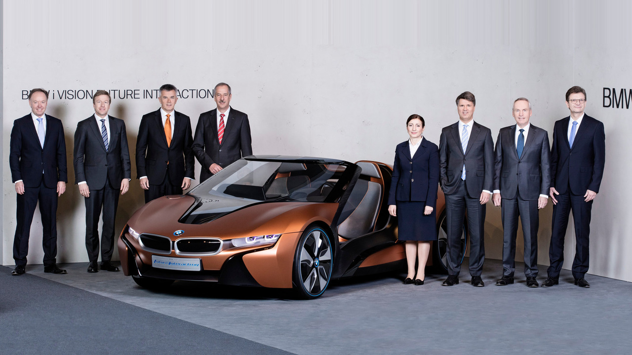 BMW execs at the BMW Group Annual Accounts Press Conference at BMW Welt in Munich