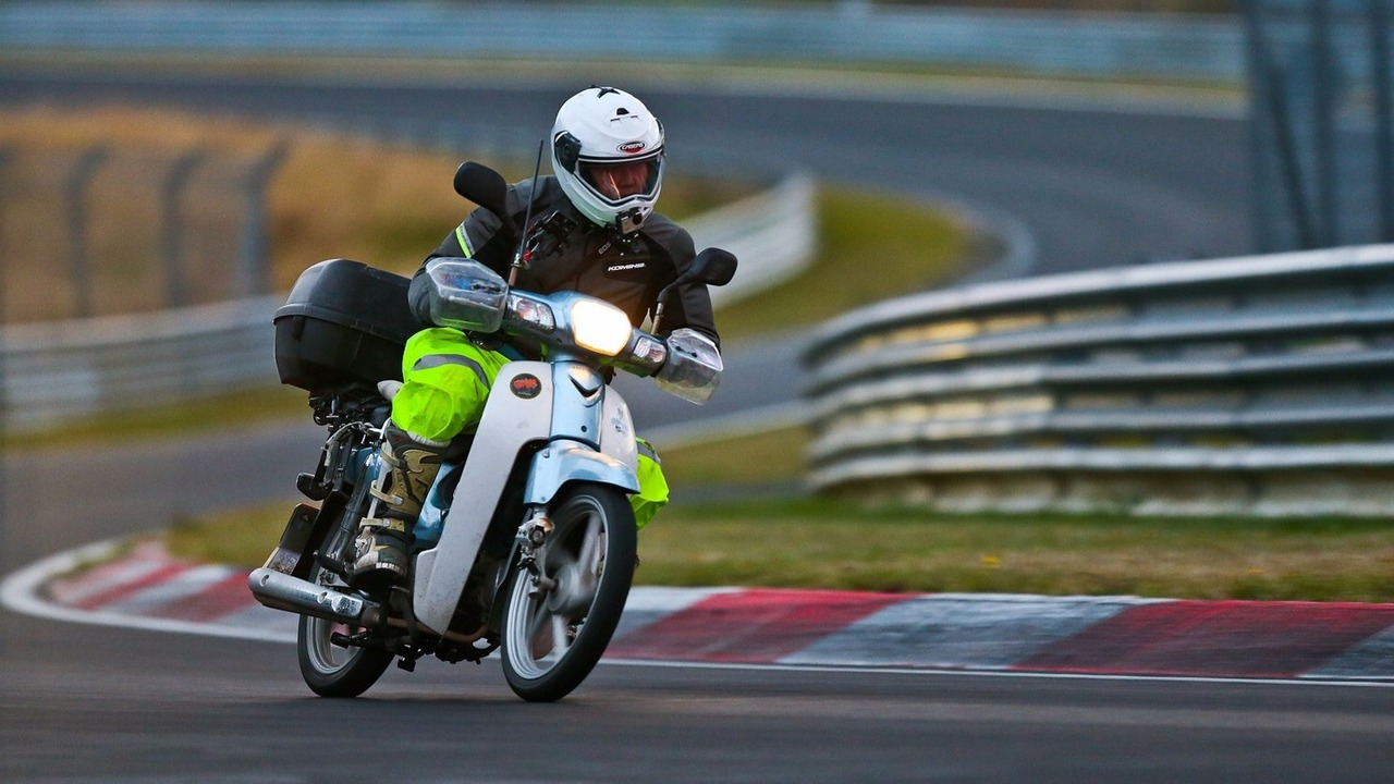 Scooter on the Nordschleife