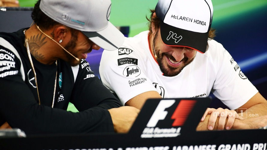 "Hamilton defends ""fun"" behaviour during FIA press conference"