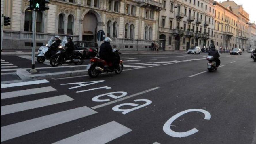 Milano Area C, 42.218 ingressi in meno al giorno rispetto al 2011