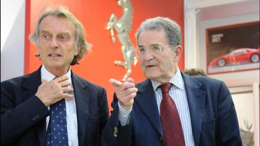 """Romano Prodi """"da' lezione"""" alla Ferrari"""