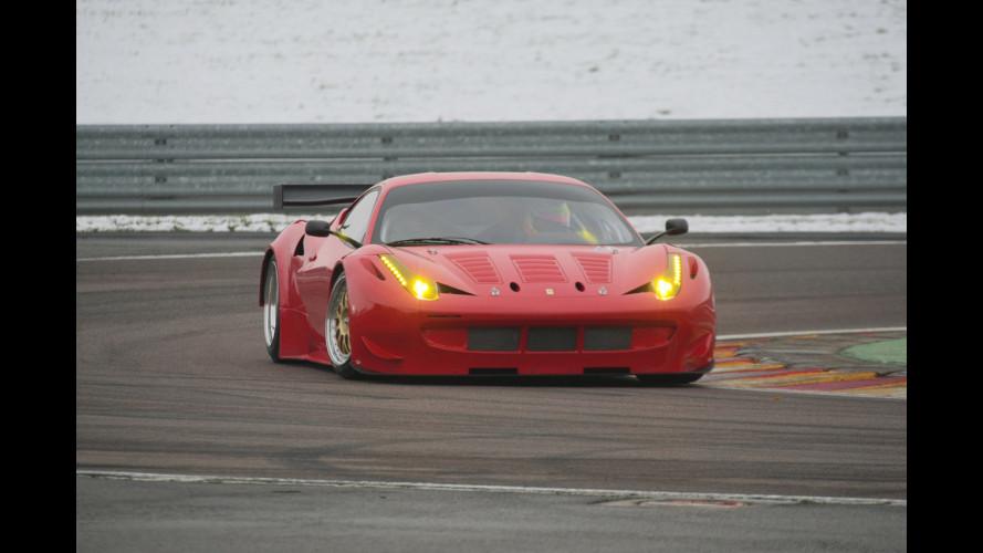 La Ferrari 458 GTC in azione a Fiorano