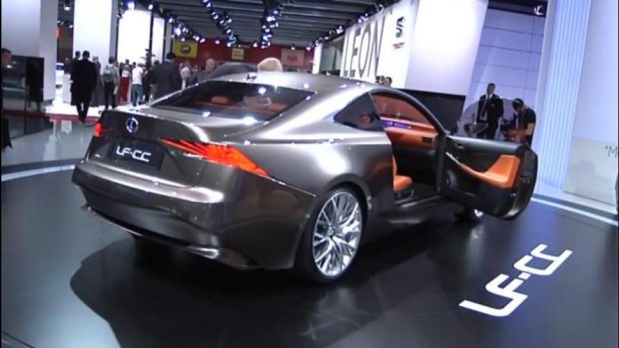 Lexus LF-CC, l'ibrido va a braccetto con la sportività