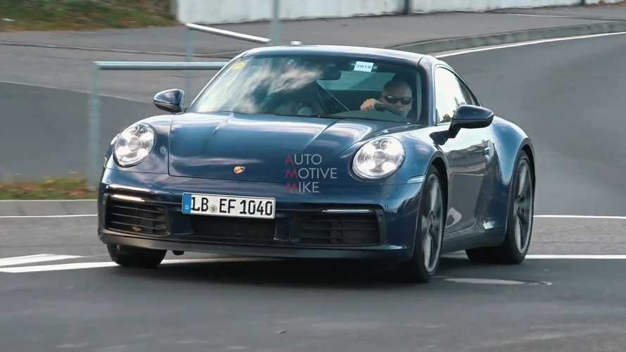 2020 Porsche 911 caught during final testing at the Nurburgring