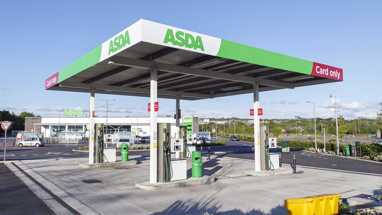 Asda petrol station Swansea UK
