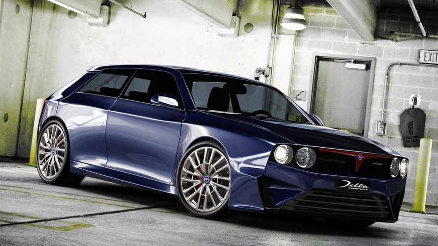 Lancia Delta HF Integrale concept digitally imagined