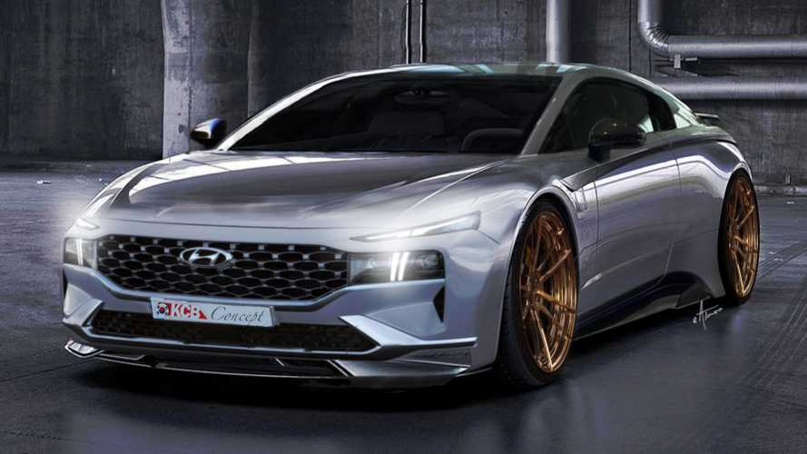 Mid-engined Hyundai sports car rendered with sleek design