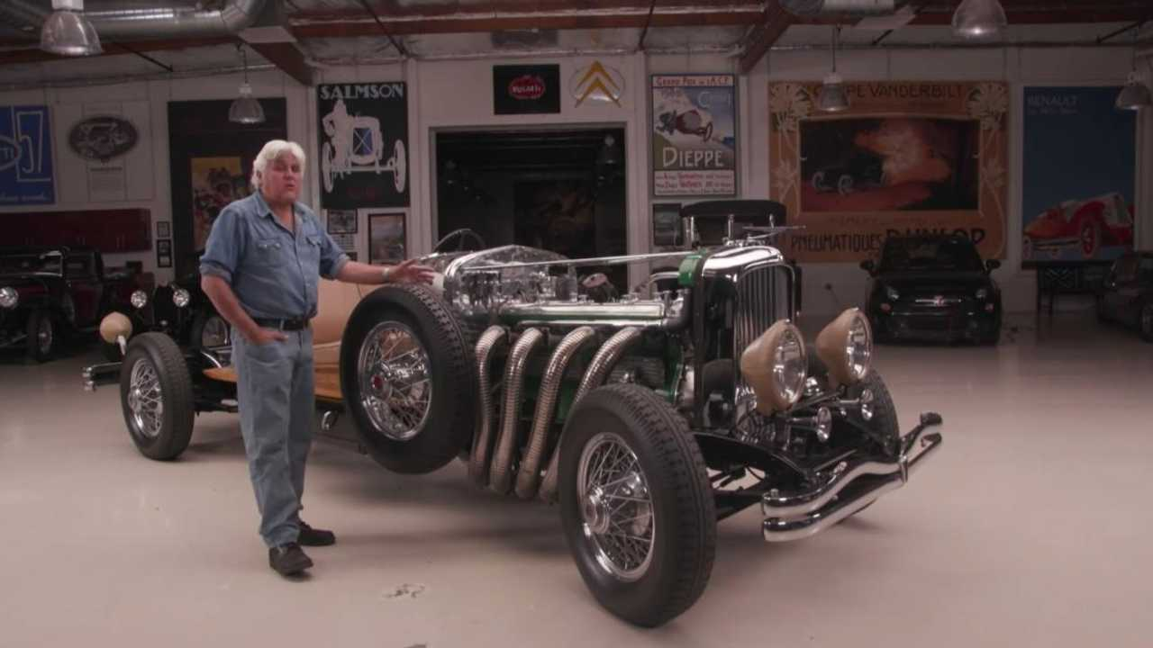 Jay Leno takes his naked 1931 Duesenberg Model J for a spin