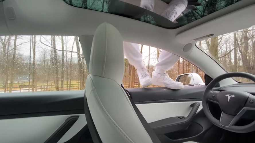 Watch what happens if you jump out of a moving Tesla while on Autopilot