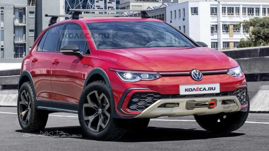 VW Golf Country: projeção imagina versão aventureira com tração 4x4