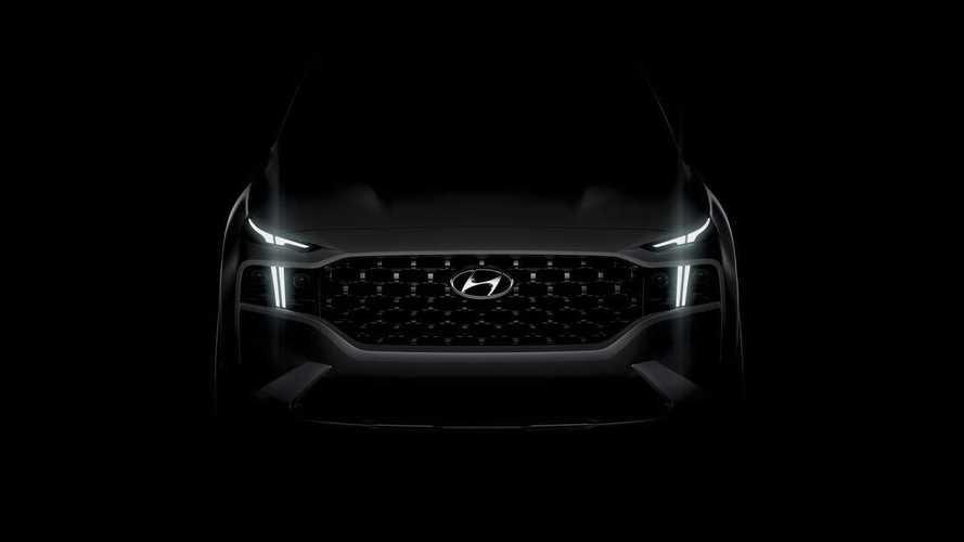 Внезапно появился первый тизер нового Hyundai Santa Fe
