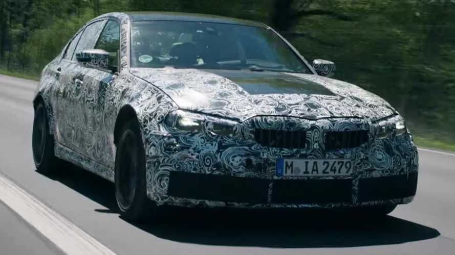 2021 BMW M3 Teased Showing What It Can Do At The Nurburgring