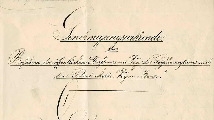 Ältester deutscher Führerschein? Dokument von 1888 für Carl Benz