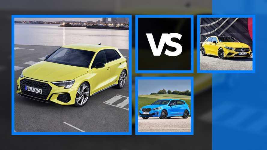 Comparatif entre les nouvelles S3, M135i et Mercedes-AMG A 35