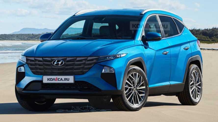 Novo Hyundai Tucson 2021 é retratado em melhor projeção até o momento