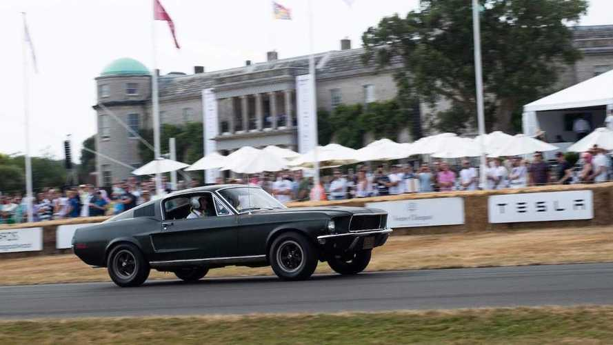 AutoClassics goes up the Goodwood hill in the Bullitt Mustang