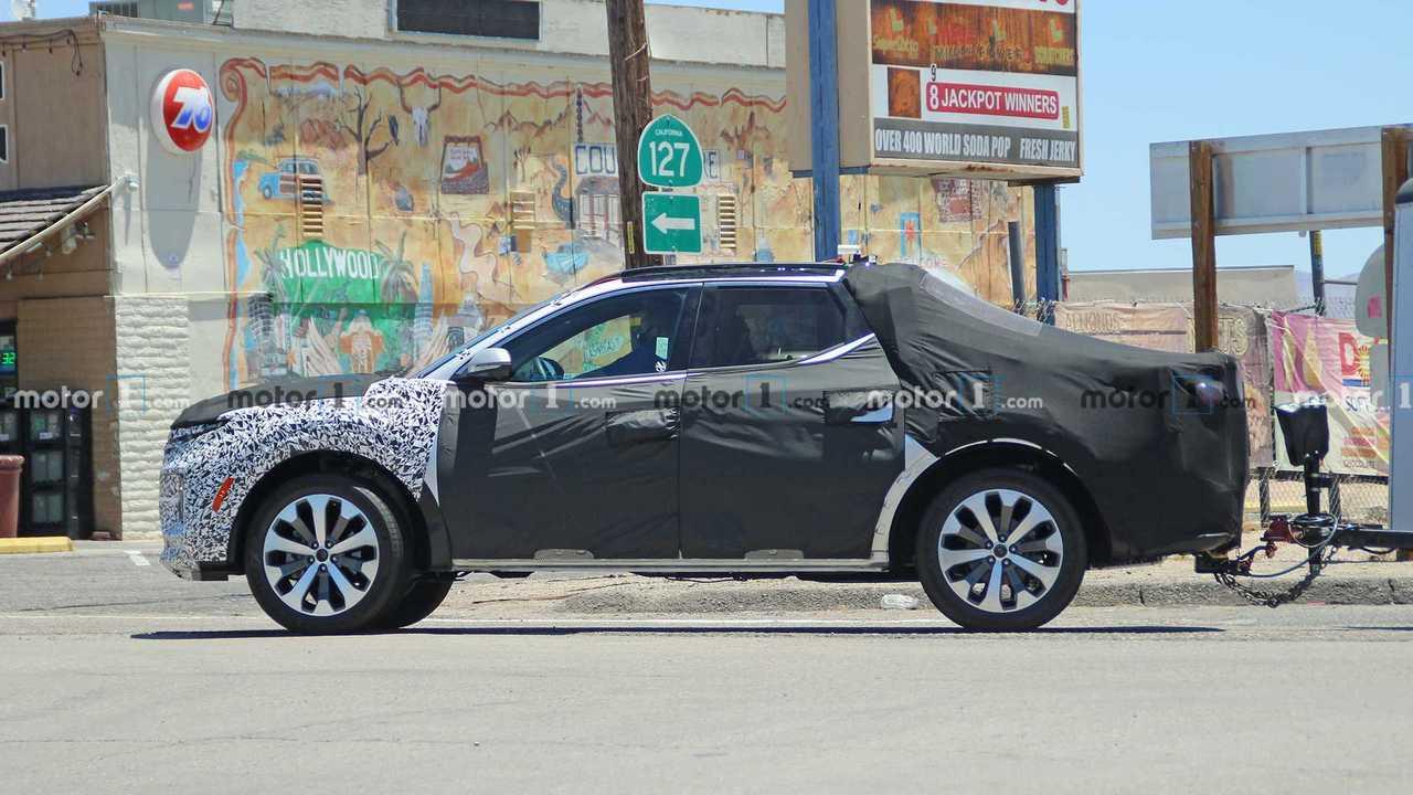 Шпионские фото пикапа Hyundai Santa Cruz