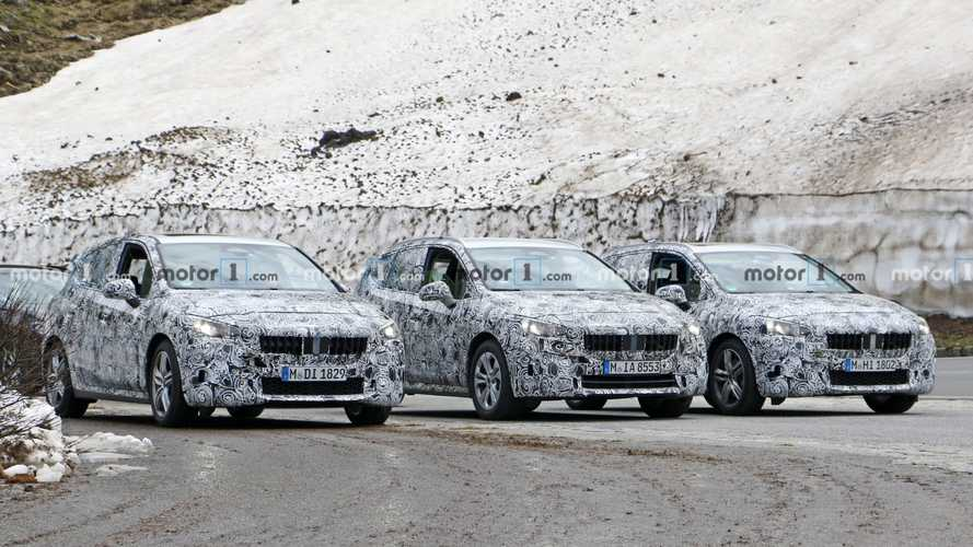 Next-Gen BMW 2 Series Active Tourer Fleet Spied In The Alps