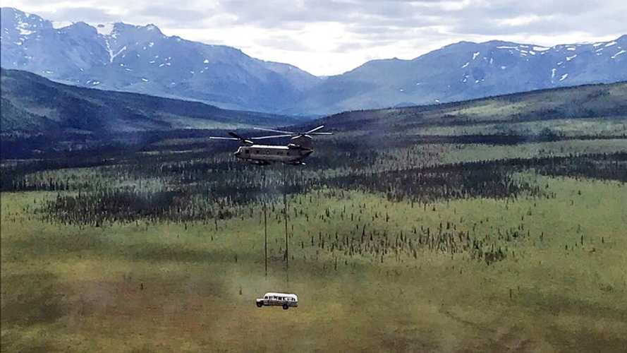 'Into The Wild' Bus Gets Airlifted Out Of Alaskan Wilderness