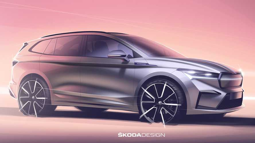 2021 Skoda Enyaq iV Exterior Previewed In Official Teaser Images