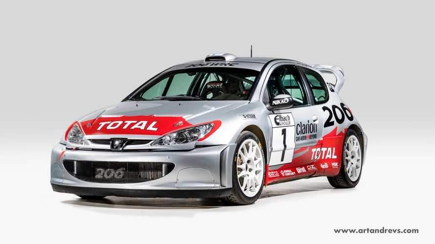 Una Peugeot 206 WRC originale è in vendita su internet