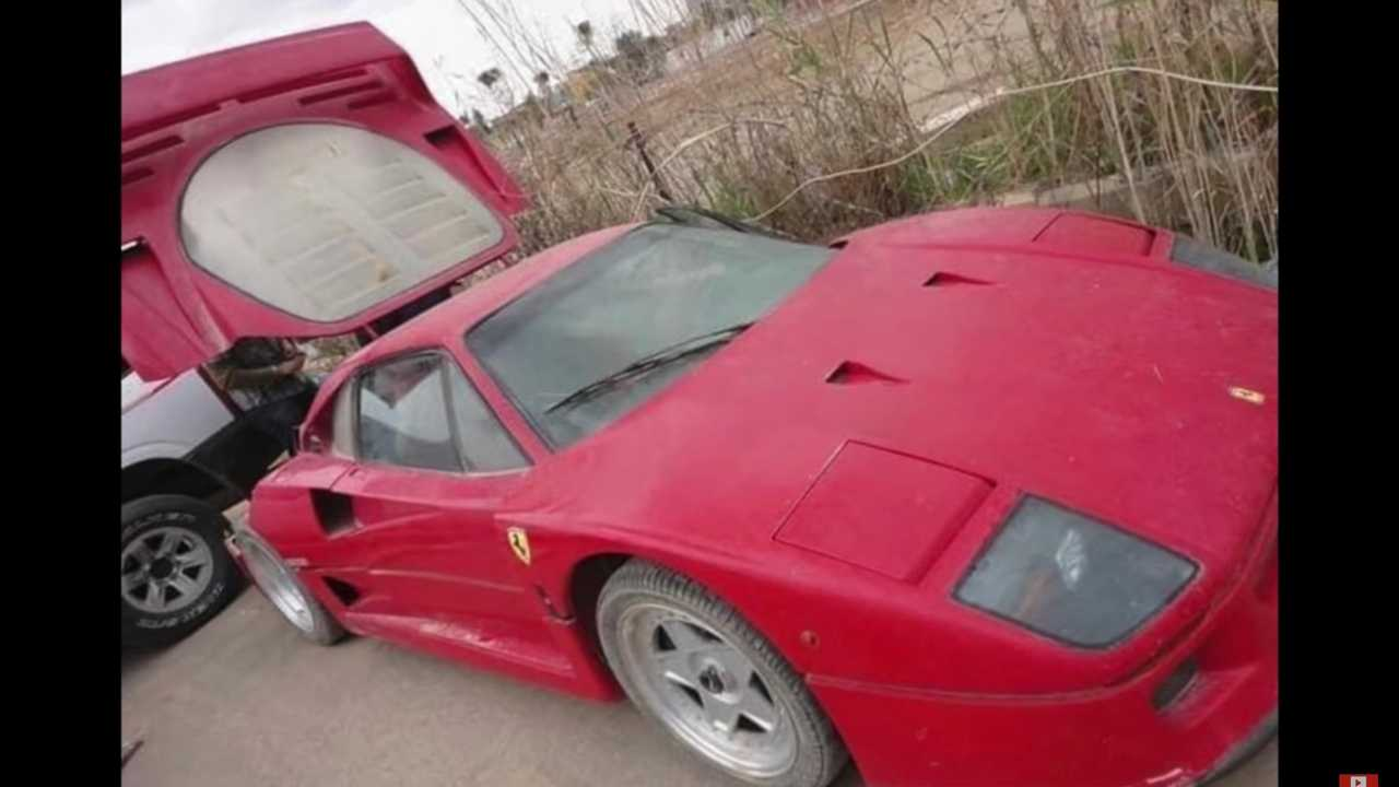 Uday Hussein elhagyott Ferrarija F40
