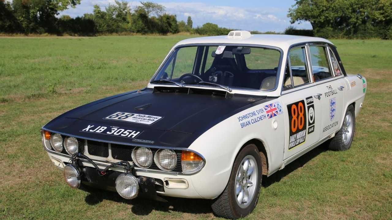 Meticulous replica of 1970 London-Mexico rally Triumph on sale