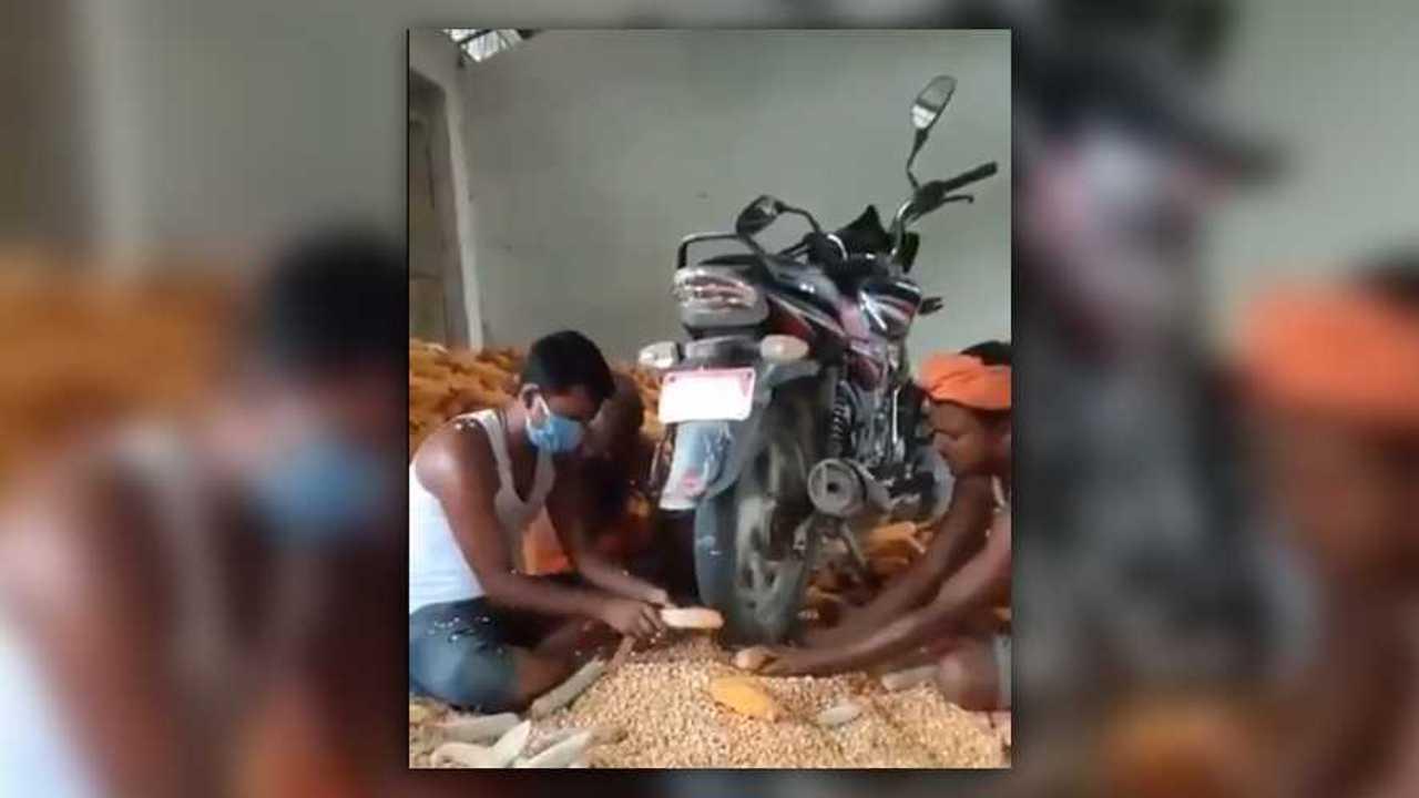 Motorcycle Corn Sheller