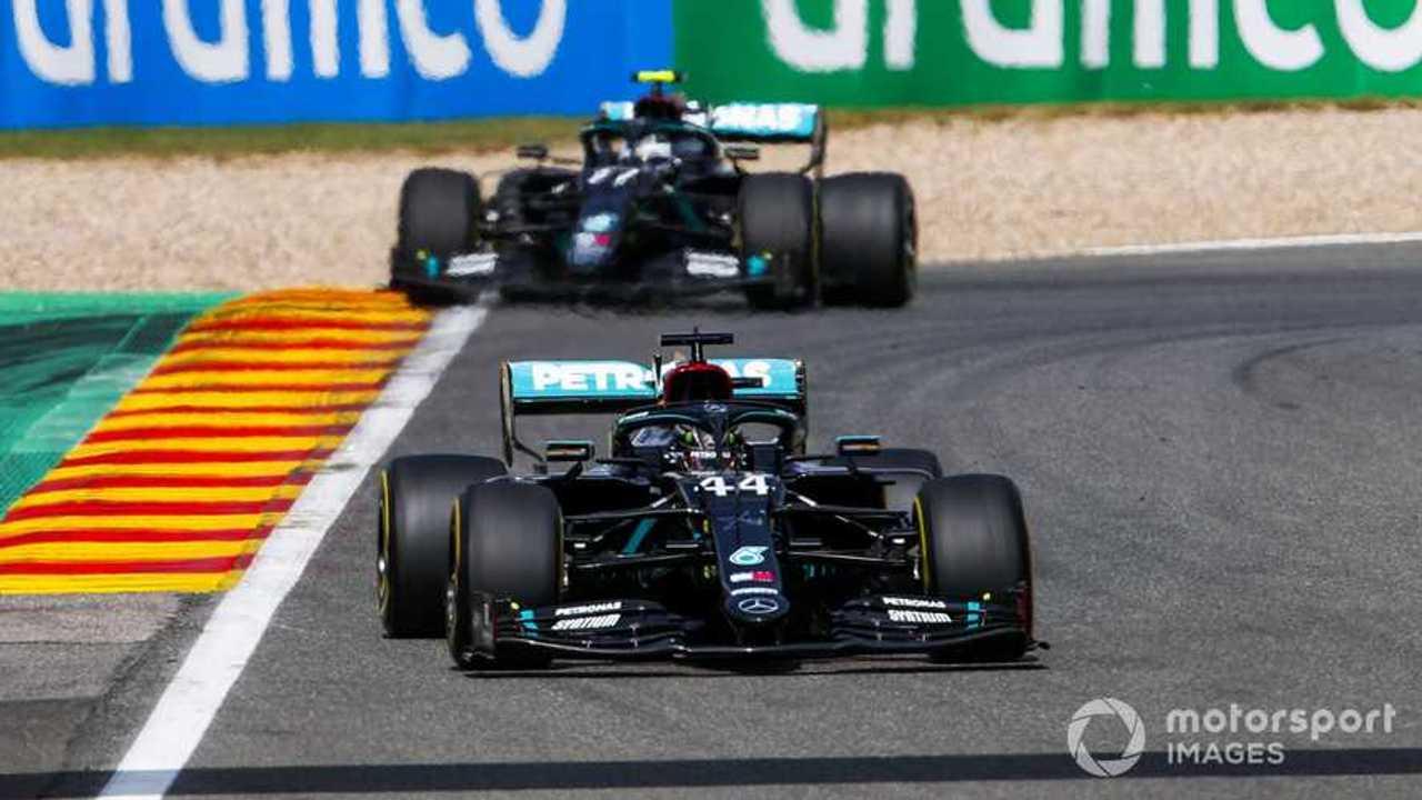 Lewis Hamilton leads Valtteri Bottas at Belgian GP 2020