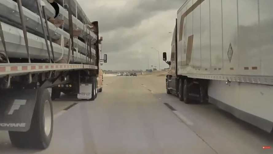 TeslaCam: Watch Tesla Model 3 On Autopilot Get Almost Squashed Between Semis