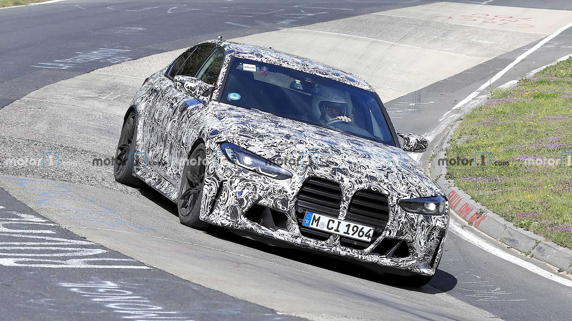 2020 - [BMW] M3/M4 - Page 18 Bmw-m3-spy-photos-front-3-4