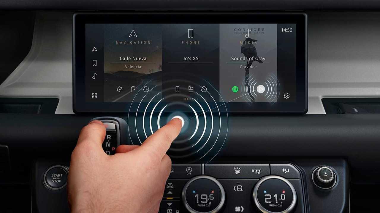 Jaguar Land Rover: Kontaktloser Touchscreen