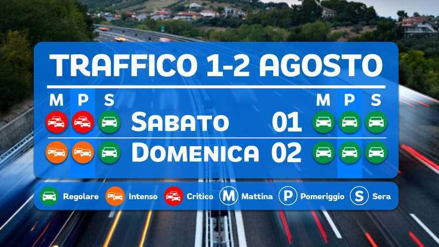Le previsioni del traffico per il weekend 1 e 2 agosto