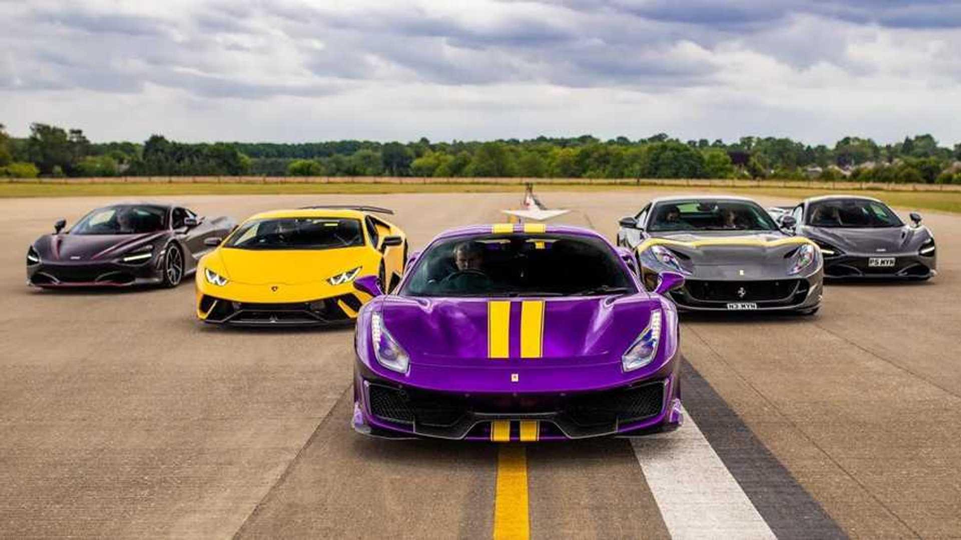 Videó: Hatalmas csata McLarenekkel, Ferrarikkal, Lamborghinivel