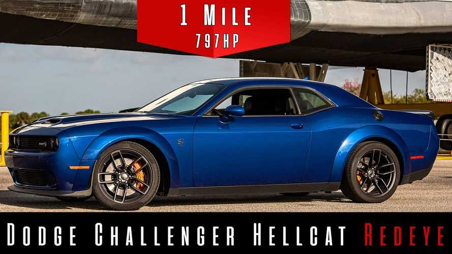 See Dodge Challenger Hellcat Redeye Dominate Standing-Mile Speed Test