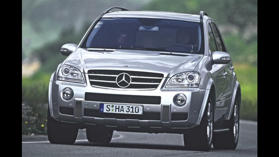 Mercedes ML 63 AMG: Bärenstarker Luxus-Gelände-V8