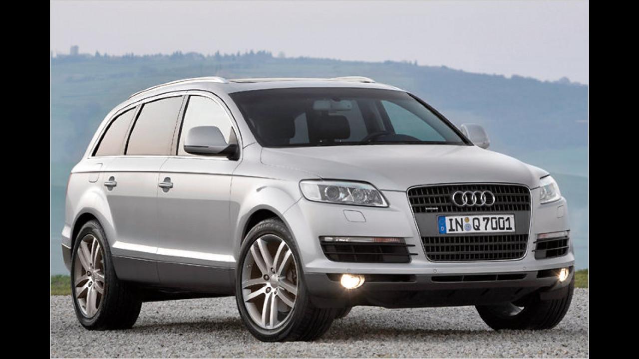 Platz 2 bei den Geländewagen: Audi Q7 (21,5 Prozent)
