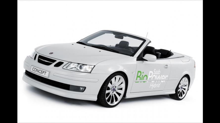 Saab Bio-Power: 9-3 Cabrio mit Allrad-Hybrid-Biosprit-Antrieb