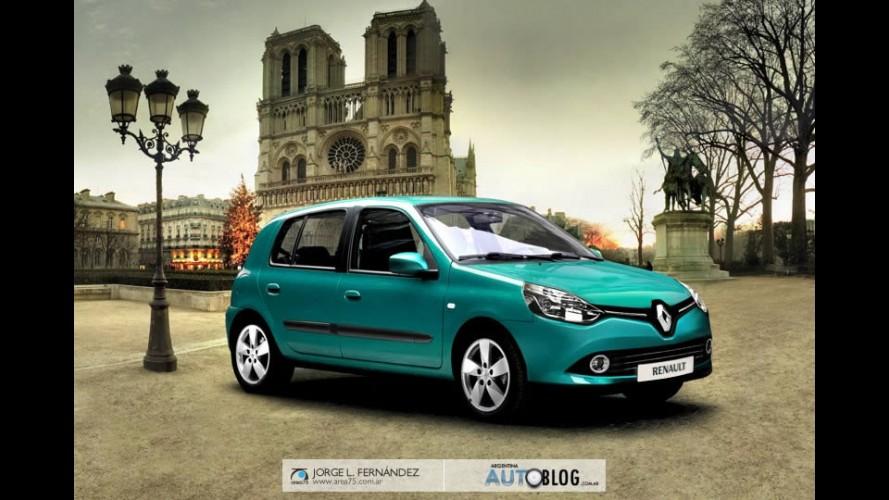 Novo Clio Live 2013: Projeção antecipa visual do modelo que estará no Salão do Automóvel